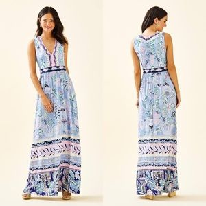 Lilly Pulitzer McKinley Maxi Dress in Printed Blue